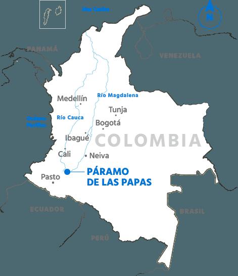 La laguna donde nace el ro magdalena mapa paramo papas thecheapjerseys Choice Image